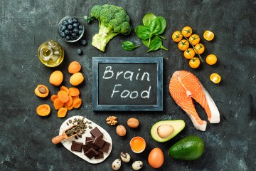 Brain Food concept, top view