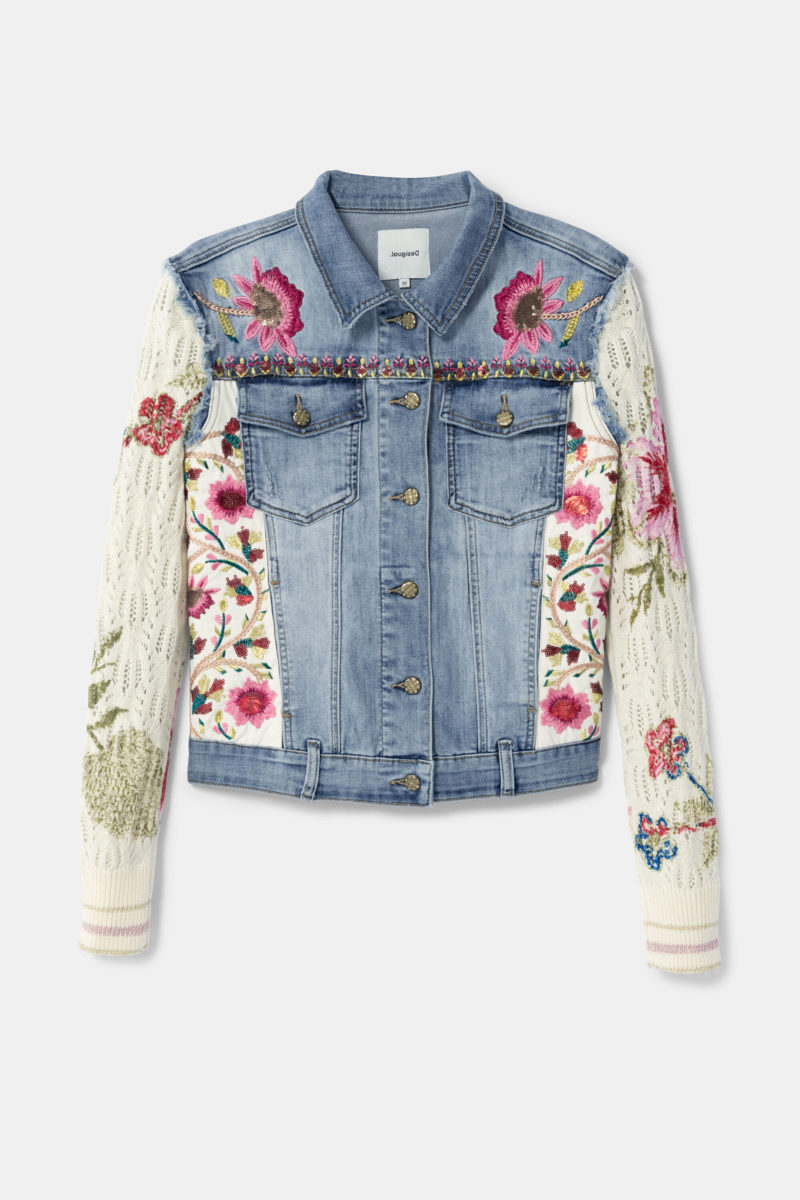 Desigual Floral Patch Jacket $159.95