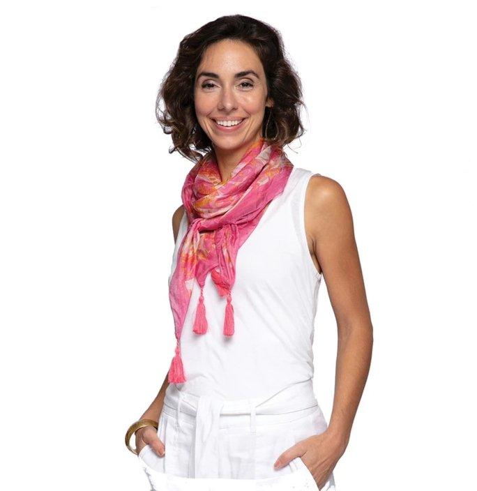 Katarina Pink Silk Scarf