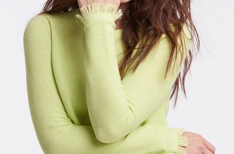 Twiggy green sweater