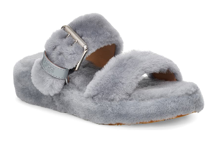Fuzz Yeah Genuine Shearling Slide
