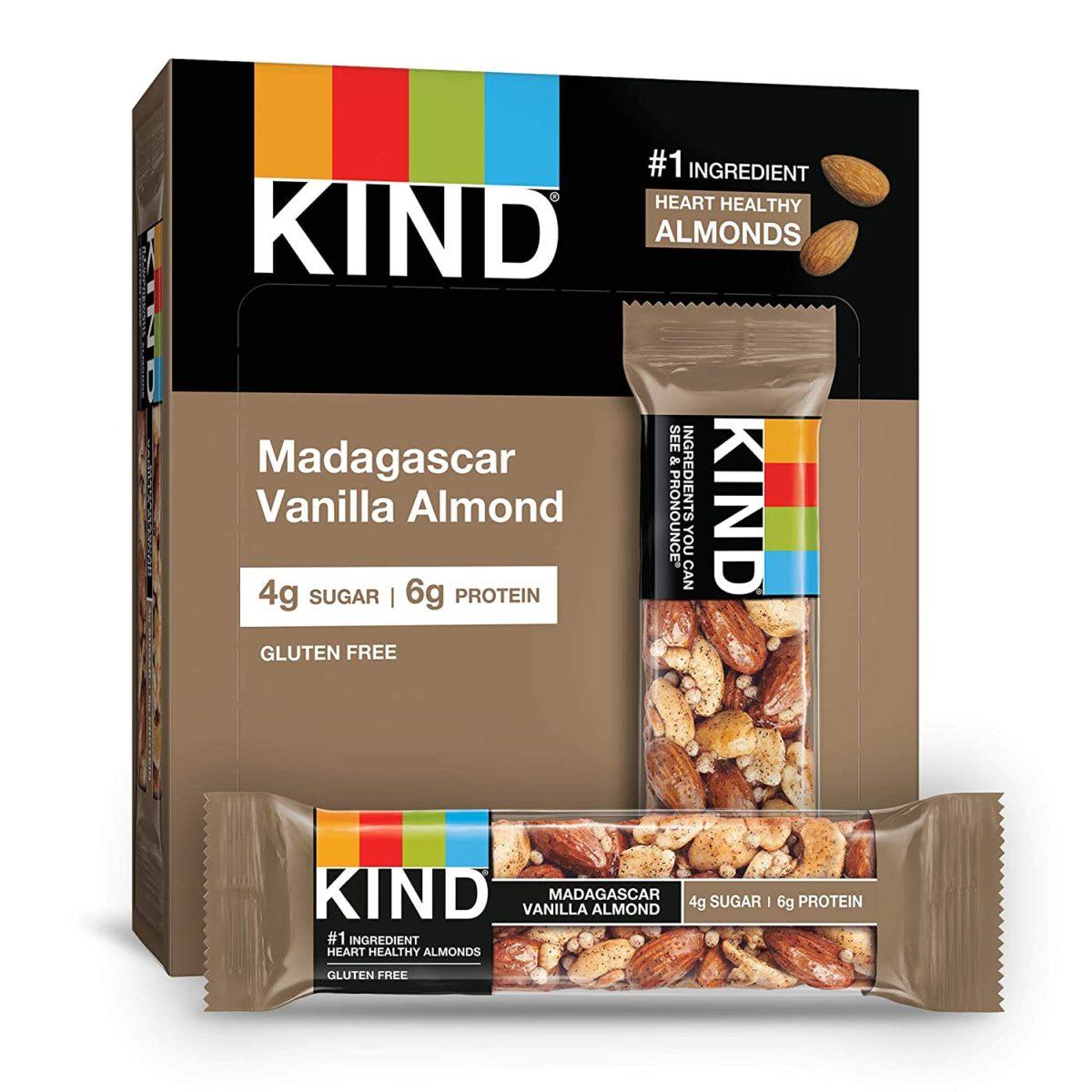 Kind Madagascar Vanilla Almond Bar