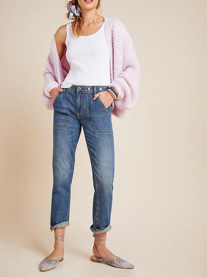 Pilcro High-Rise Slim Boyfriend Jeans