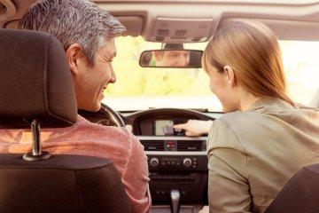navigating the car to trip