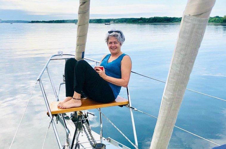 Ronna Benjamin on her boat