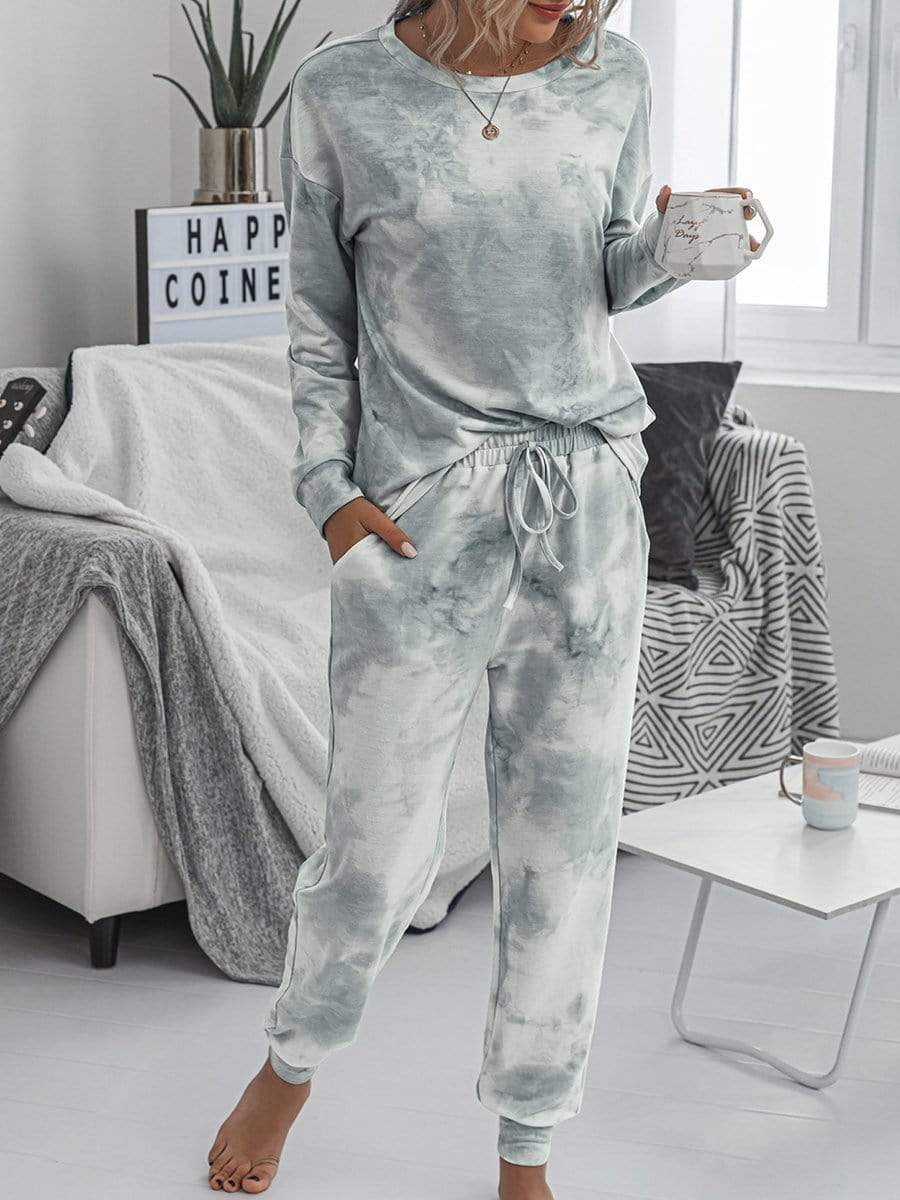 Women's Dainty Pajama Sets with Long Sleeves & Pants