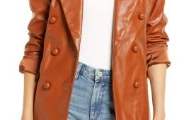 BLANKNYC Nightingale Faux Leather Blazer $98