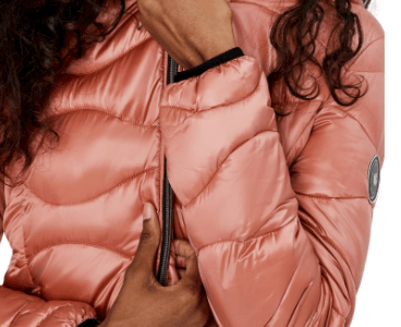 NOIZE Packable Quilted Hooded Jacket $130