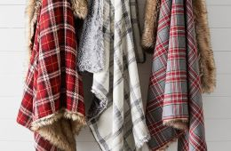 Pottery Barn Nottingham Faux Fur Plaid Throw $149
