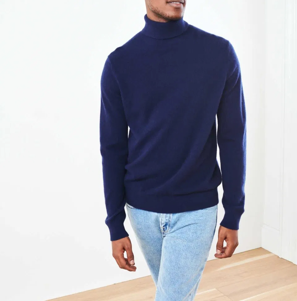 Dark blue men's sweater