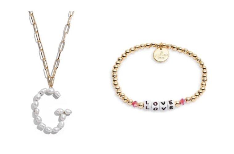 Blair Hera Genuine Pearl Initial Pendant Necklace $48