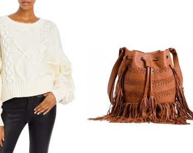 Sweater and purse