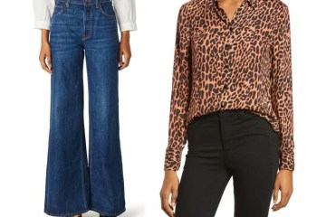 Jeans and animal print blouse