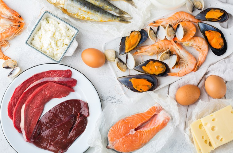 Food sources rich in vitamin B12