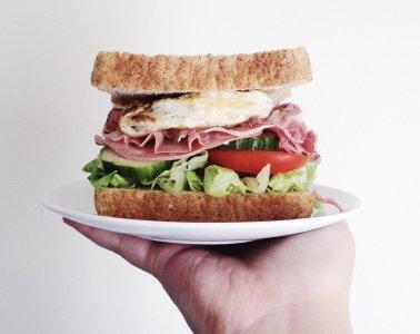 Sandwich on a platter