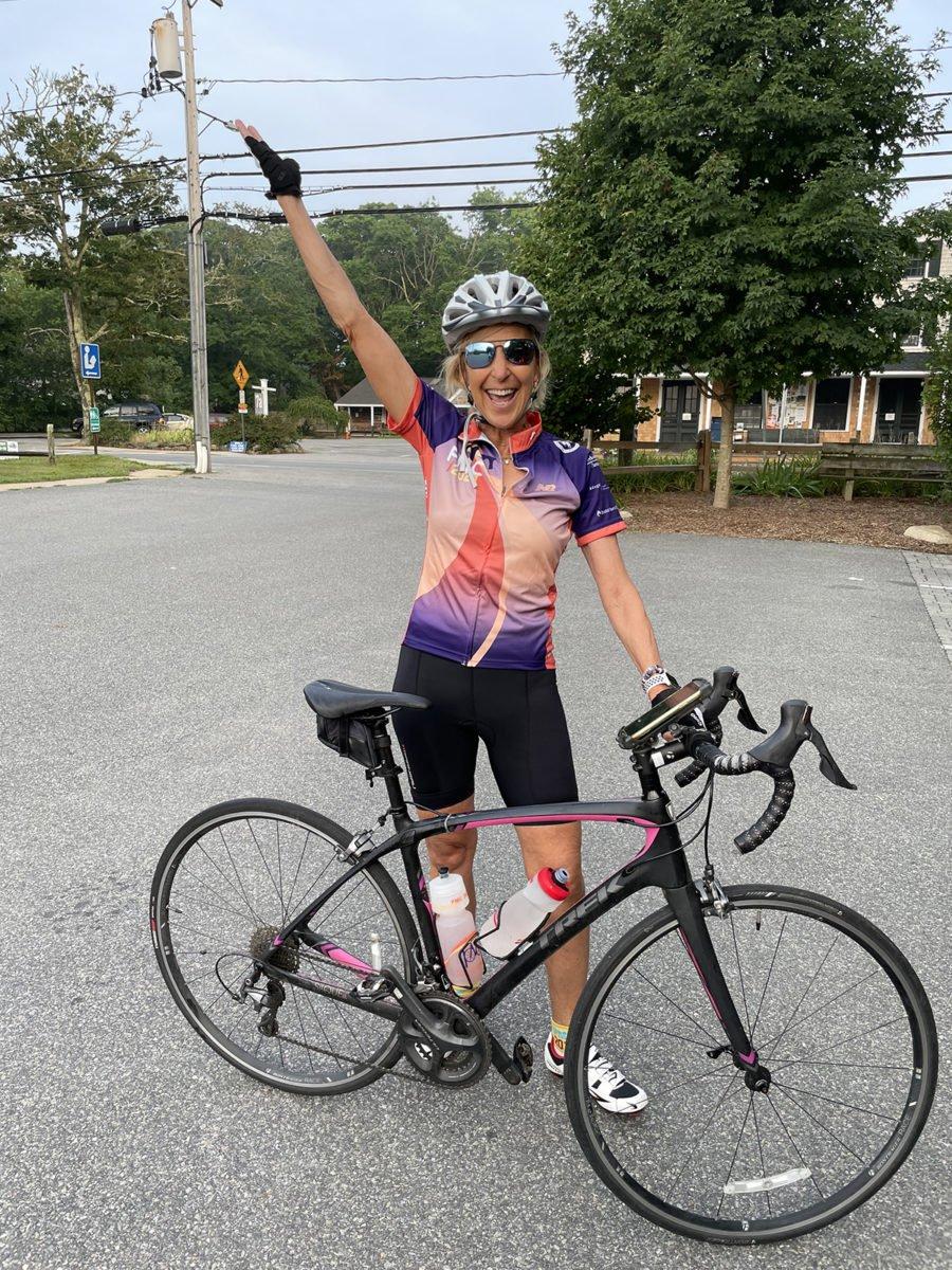 Felice riding bike