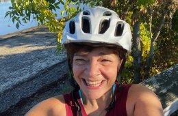 Julie Newburg biking