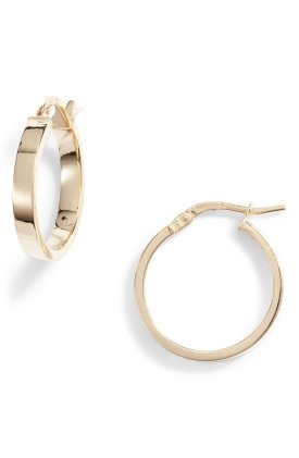 Bony Levy Gold Hoops $195