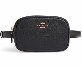 Coach Pebbled Leather Belt Bag