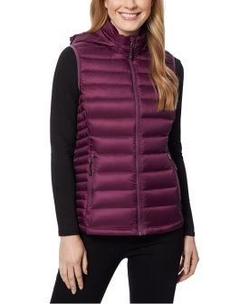 32 Degrees Packable Hooded Down Puffer Vest $27.99