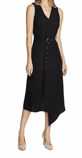 Vince Camuto Belted Crepe Midi Dress $62.58