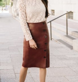 Rachel Parcell Leather Pencil Skirt $199.00