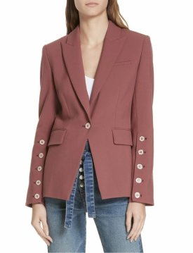 Veronica Bear Fogg Button Sleeve Dickey Jacket
