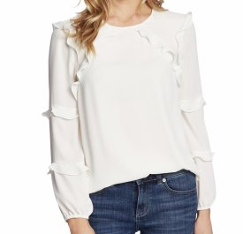 Cece Tiered Ruffle Long Sleeved Blouse $79.00