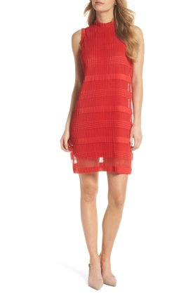 bold red cocktail dress