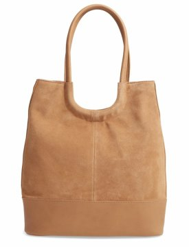 Sole Society Debdi Suede Faux Leather Tote