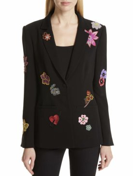 Cinq A Sept Rumi Botanical Patch Blazer $695.00
