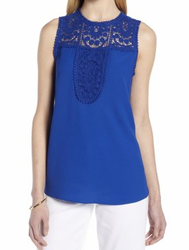 Halogen Lace Crepe Top $59.00