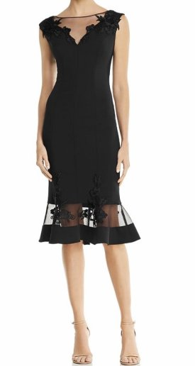Aidan Mattox Scuba Illusion Dress $275.00