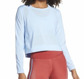 Adidas Badge of Sport Mesh Crop Training Top $50.00