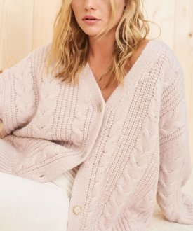 Cable Cardigan $395