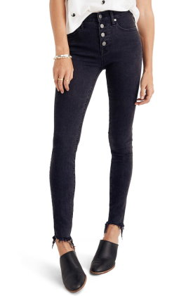 Madewell 9 inch Button High Waist Ankle Skinny Jeans $135.00