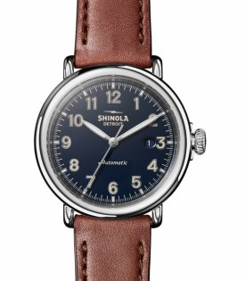 Shinola Runwell Automatic Leather Strap Watch $1095.00