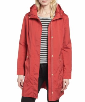 Cole Haan Signature Back Bow Packable Hooded Raincoat $129.90