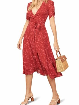 Reformation Napa Wrap Midi Dress $218.00