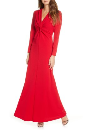 long sleeve twist gown