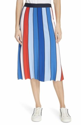 The Tory Sport Strip Tech Knit Skirt