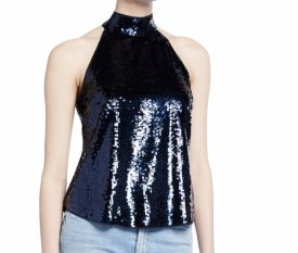 Joie Lei Lei Sequin Halter Top $298.00
