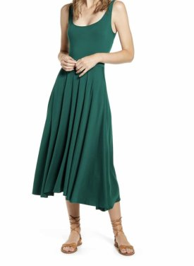 Reformation Rou Midi Fit Flare Dress $98.00