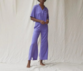 Lunya Washable Silk Button Down Pant Set $258