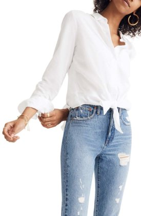 Madewell Tie Front Shirt $79.50