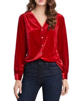 State Velvet Button-Front Top $51.75