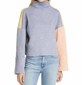 Rejina Pyo Colorblock Ribbed Funnel Neck Top $399.00