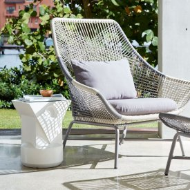 Huron Outdoor Lounge Chair & Cushion