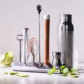 Williams Sonoma Bar Tool Set with Stand & Cocktail Shaker