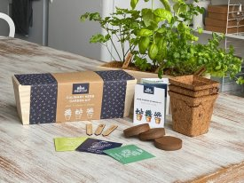 Herb and Vegetable Garden Kits | Includes Planter, Pots, Soil, Labels and Seeds